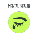 mental health icon - words transparent