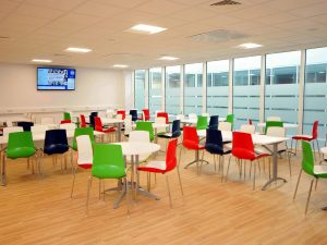 Tables and chairs in the canteen in the Norther PIC