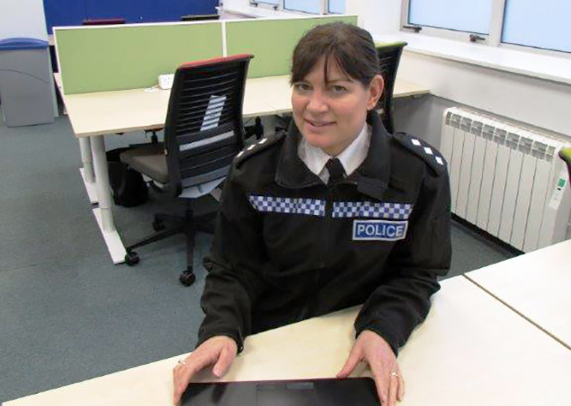District Commander Clare Jenkins, Hampshire Constabulary Photo courtesy of Petersfield Post
