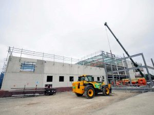 Building progress showing framework and concreting for the Eastern PIC in Portsmouth