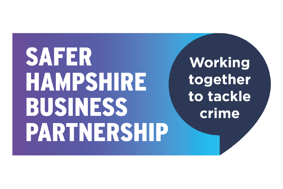 Safer Hampshire Business Partnership logo: working together to tackle crime