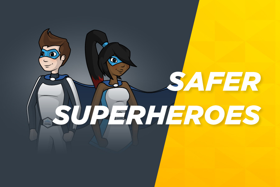 The Safer Superheroes: Agent Justice and Internettie