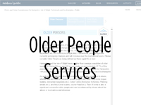 Link to Older People Services dashboard