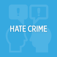 Button to access information about hate crime