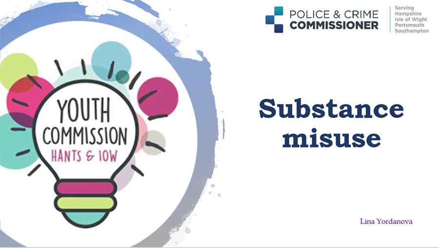 Presentation about Substance Misuse made by Youth Commission member