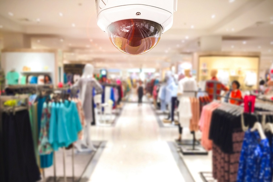 Retail crime: photo of CCTV camera in a shop