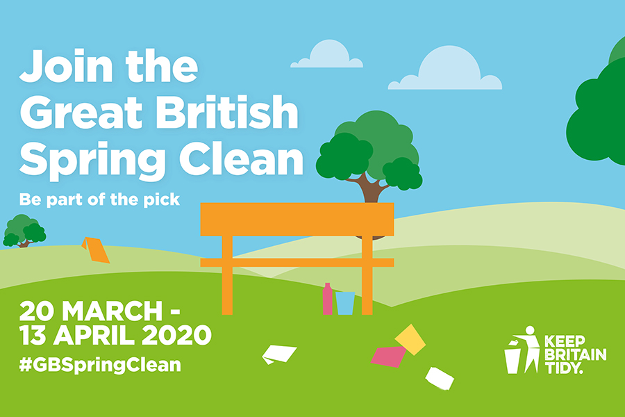 Join the Great British Spring Clean: be part of the pick. 20 March to 13 April #GBspringClean Keep Britain Tidy