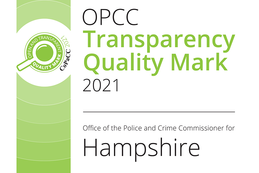OPCC transparency quality mark 2021 - Hampshire