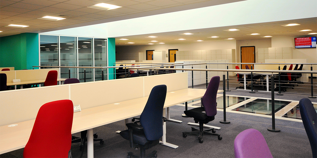 Northern Police Investigation Centre's open plan offices