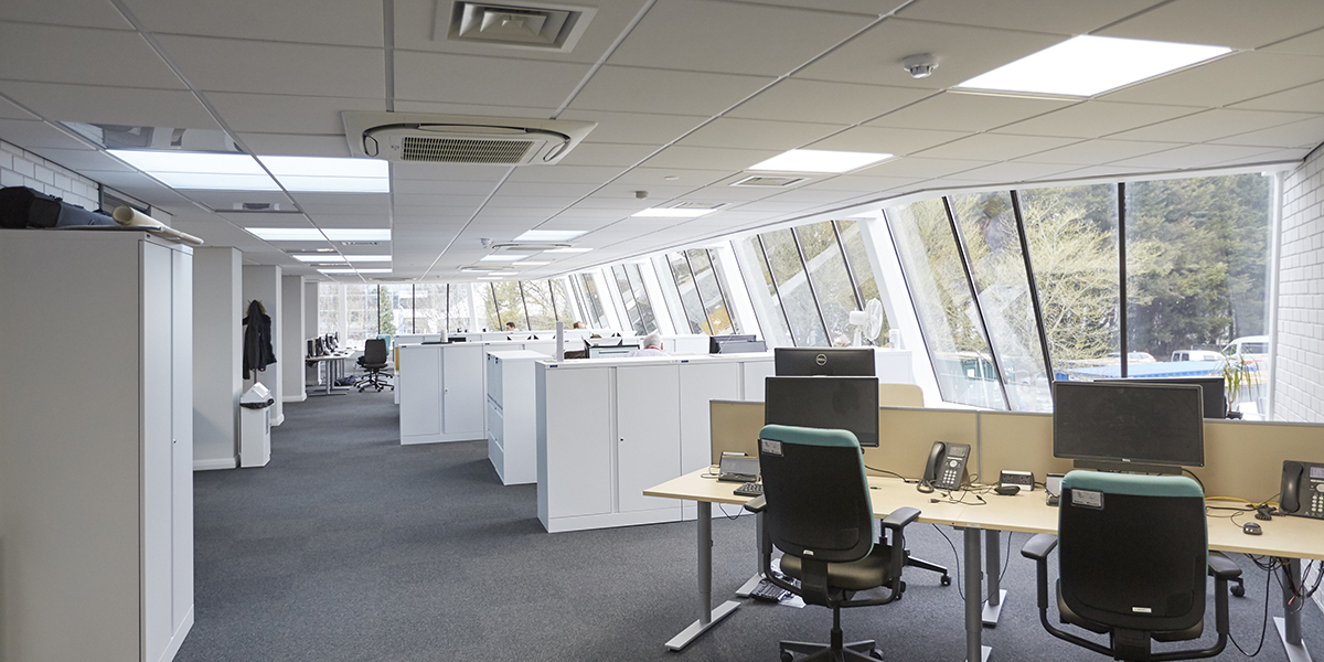 Shared headquarters, Eastleigh: touchdown working space