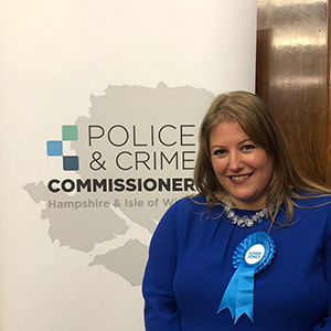 Donna Jones is to be the new Police and Crime Commissioner for Hampshire and the Isle of Wight