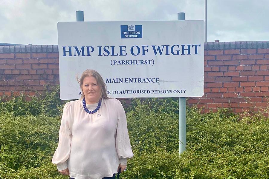 PCC Donna Jones at HMP Isle of Wight